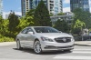 Driving 2017 Buick LaCrosse in Quicksilver Metallic from a front right three-quarter view