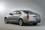 2013 Cadillac ATS 2.0T in Radiant Silver Metallic - Static Rear Left Three-quarter View
