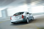 2015 Cadillac ATS Sedan 2.0T in Radiant Silver Metallic - Driving Rear Right View