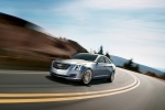2015 Cadillac ATS Sedan 2.0T in Radiant Silver Metallic - Driving Front Left Three-quarter View