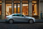 2015 Cadillac ATS Sedan 2.0T in Radiant Silver Metallic - Static Side View