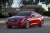 2018 Cadillac ATS Coupe in Red Obsession Tintcoat from a front left view