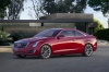 2018 Cadillac ATS Coupe in Red Obsession Tintcoat from a front left three-quarter view