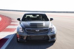 2018 Cadillac ATS-V Sedan in Black Raven - Driving Frontal View