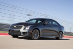 2018 Cadillac ATS-V Sedan in Black Raven - Driving Front Left Three-quarter View