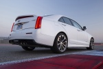 2018 Cadillac ATS-V Sedan in Crystal White Tricoat - Static Rear Right Three-quarter View