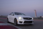 2018 Cadillac ATS-V Sedan in Crystal White Tricoat - Static Front Right Three-quarter View