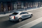 2018 Cadillac ATS Sedan 2.0T in Radiant Silver Metallic - Driving Rear Right Three-quarter View