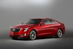 2018 Cadillac ATS Coupe 3.6 in Red Obsession Tintcoat - Static Front Left Three-quarter View