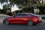 2018 Cadillac ATS Coupe in Red Obsession Tintcoat - Static Rear Left Three-quarter View