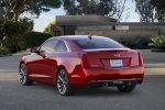 2018 Cadillac ATS Coupe in Red Obsession Tintcoat - Static Rear Left View
