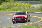 2018 Cadillac ATS Coupe 3.6 in Red Obsession Tintcoat - Driving Frontal View