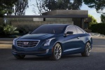2018 Cadillac ATS Coupe 2.0T in Dark Adriatic Blue Metallic - Static Front Left View