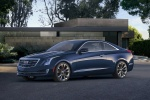 2018 Cadillac ATS Coupe 2.0T in Dark Adriatic Blue Metallic - Static Front Left Three-quarter View