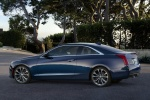 2018 Cadillac ATS Coupe 2.0T in Dark Adriatic Blue Metallic - Static Rear Left Three-quarter View