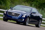 2018 Cadillac ATS Coupe 2.0T in Dark Adriatic Blue Metallic - Driving Front Left Three-quarter View