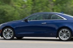 2018 Cadillac ATS Coupe 2.0T in Dark Adriatic Blue Metallic - Driving Rear Left Three-quarter View