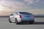 2018 Cadillac ATS-V Coupe in Crystal White Tricoat - Static Rear Left View