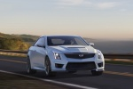 2018 Cadillac ATS-V Coupe in Crystal White Tricoat - Driving Front Right View