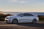 2018 Cadillac ATS-V Coupe in Crystal White Tricoat - Driving Left Side View