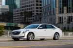 2018 Cadillac CT6 3.0TT AWD Sedan in Crystal White Tricoat - Driving Front Left Three-quarter View