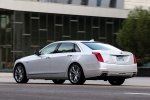 2018 Cadillac CT6 3.0TT AWD Sedan in Crystal White Tricoat - Driving Rear Left View