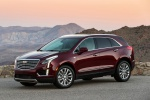 Picture of a 2019 Cadillac XT5 AWD in Red from a front left three-quarter perspective