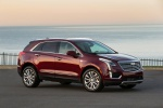 Picture of a 2019 Cadillac XT5 AWD in Red from a front right three-quarter perspective
