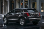 Picture of a 2019 Cadillac XT5 AWD in Dark Granite Metallic from a rear left three-quarter perspective