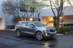 Picture of a 2020 Cadillac XT5 Sport AWD in Satin Steel Metallic from a front right three-quarter perspective