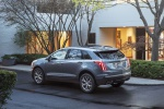 Picture of a 2020 Cadillac XT5 Sport AWD in Satin Steel Metallic from a rear left perspective
