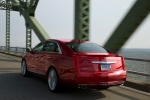 2017 Cadillac XTS Vsport AWD in Red Passion Tintcoat - Driving Rear Left View