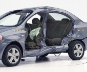 2011 Chevrolet Aveo IIHS Side Impact Crash Test Picture