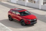 2019 Chevrolet Blazer RS AWD in Red Hot - Static Front Right Three-quarter Top View