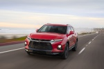 2019 Chevrolet Blazer RS AWD in Red Hot - Driving Front Left View