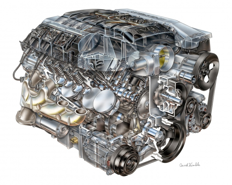 2013 Chevrolet Camaro 6.2-liter V8 Engine Picture
