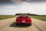 2013 Chevrolet Camaro ZL1 Coupe in Victory Red - Driving Rear View