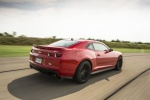 2013 Chevrolet Camaro ZL1 Coupe in Victory Red - Driving Rear Right Three-quarter View