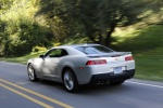 2015 Chevrolet Camaro LT RS Coupe in Silver Ice Metallic - Driving Rear Left Three-quarter View