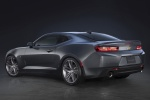 2017 Chevrolet Camaro RS Coupe in Nightfall Gray Metallic - Static Rear Left Three-quarter View