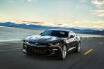 2017 Chevrolet Camaro SS Coupe in Black - Driving Front Left View