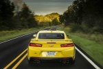 2017 Chevrolet Camaro SS Coupe in Bright Yellow - Driving Rear View