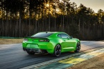 2017 Chevrolet Camaro SS 1LE Coupe in Krypton Green - Driving Rear Right Three-quarter View