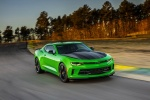 2017 Chevrolet Camaro SS 1LE Coupe in Krypton Green - Driving Front Right Three-quarter View