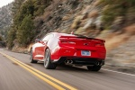 2017 Chevrolet Camaro ZL1 Coupe in Red Hot - Driving Rear Left View