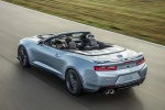 2017 Chevrolet Camaro ZL1 Convertible in Arctic Blue Metallic - Driving Rear Left Three-quarter Top View