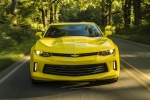 2018 Chevrolet Camaro RS Coupe in Bright Yellow - Driving Frontal View