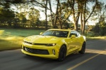 2018 Chevrolet Camaro RS Coupe in Bright Yellow - Driving Front Left Three-quarter View