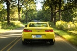 2018 Chevrolet Camaro RS Coupe in Bright Yellow - Driving Rear View
