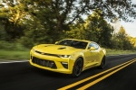 2018 Chevrolet Camaro SS Coupe in Bright Yellow - Driving Front Left Three-quarter View